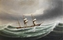 "Kwong Sang, The barque ""Hawthornbank"" in stormy waters"