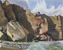 Edward Hopper, Shoshone Cliffs, Wyoming