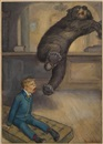 Peter Newell, Mr. Bear jumped ten feet (bk illus. for Mr. Munchausen, An Account of Some of His Recent Adventures)
