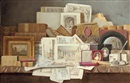 Benjamin Walter Spiers, Art and letters - Still-life of books, paintings, prints and other objects