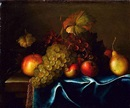 Circle Of Paul Liegeois, Nature morte de fruits posés sur un entablement