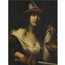 Follower Of Cesare Dandini, An allegorical female figure dressed as a solider