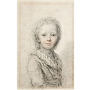 Attributed To Augustin de Saint-Aubin, Portrait of a young boy, thought to be the dauphin, later Louis XVII