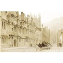 Thomas Allom, A street scene in Oxford