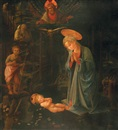 After Filippo (Filippino) Lippi, The adoration with the Infant Baptist and St. Bernard