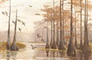 Reveau Mott Bassett, Ducks in Cypress Swamp