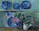 Jane Corsellis, Flowers on the Welsh dresser