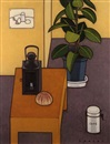 Seiichi Kasai, Interior of room with leafy plant