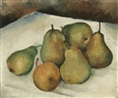 Jacques Dormont, Still life with pears