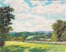 William F. Heffernan, Hillside pasture (+ Lily pond; 2 works)
