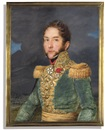 Josef Heigel, A French general, in green uniform (+ Officer in blue uniform; 2 works)