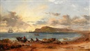 Edward F. D. Pritchard, Portland Island from the Beach at Sandsfoot Castle, Portland Bay