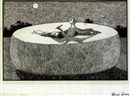Edward Gorey, Woman writer inside giant cheese wheel