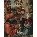Attributed To Alcira Master, The Adoration of the Shepherds