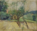 Pauline Palmer, Landscape with cottage