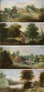 Attributed To Frans de Momper, Paysages animés (set of 4)