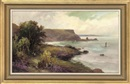 George Henry Jenkins, Looking out to sea from the cliffs, Torbay, South Devon (+ 2 others; set of 3 works)