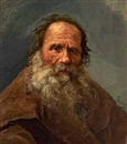 Nikolai Y. Rachkov, Portrait of an elderly Russian gentleman