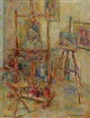 Irena Gaber, The artist's studio