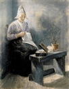 Jacob Taanmann, The fisherman's wife handworking