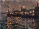 Martin von Waning, Harbour by night