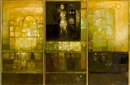 Suad Al-Attar, Ancient spirit on the golden city (triptych)