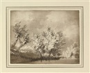 John Robert Cozens, Trees (study; + 10 others; 11 works)