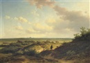 Willem Vester, In the sunlit dunes, Haarlem beyond