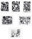 Jackson Pollock, Untitled (set of 6)