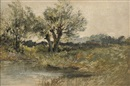 Leopold Rivers, A wooded riverbank