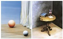 Yoo Hyun MI, Still life - Two balls (+ Still life - heart on table; 2 works)