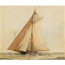 "William Wallace Armstrong, The yacht ""Cygnet"""