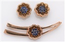 J.E. Caldwell and Co., Brooch with pair of clip-earrings en suite