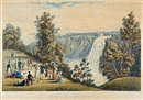 After James Pattison Cockburn, The falls of Montmerancy (Québec in the distance), pl. 4