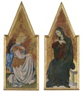 Giovanni di Paolo, The Archangel Gabriel (+ The Virgin Annunciate; 2 works)