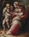 Attributed To Giovanni Battista di Matteo Naldini, The Holy Family with Saint Elizabeth and the Infant Saint John the Baptist