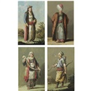 Jean-Baptiste Hilaire, Figures wearing Ottoman dress (set of 4)