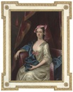 Circle Of Henry Pickering, Portrait of a lady in an oyster satin dress and a pink hat