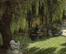 Louis Beroud, An art class in the shade
