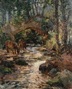 Alexander Carruthers Gould, Packhorse Bridge on the Horner Water, Exmoor