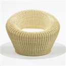 Isamu Kenmochi, Rattan Round Chair, model T-3010