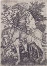 Barthel Beham, Halberdier on horseback