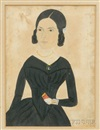 Jane Anthony Davis, Young woman holding a red book