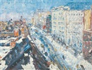 Samuel Rothbort, Snowy rooftops, Madison Avenue