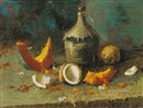 Durval Pereira, Still life with jug and tropical fruit