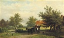 Georgius Heerebaart, A horsedrawn carriage on a country path