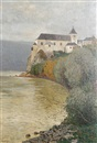 Rudolf Weber, View of the Schönbühel Castle on the Danube