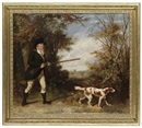 Attributed To Martin Theodore Ward, A gentleman out shooting with his working spaniel