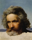 Karl Friedrich Lessing, Study of a bearded man