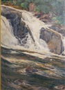 J. Winthrop Andrews, View of Buttermilk Falls, New York